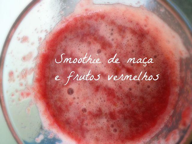 Smoothie de maça e frutos vermelhos   Veggie and Full