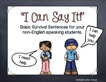 Your new student doesn't speak English. Here is a resource that will enable your student to use basic survival sentences in class. The sentences are translated into various other languages so that your newcomer may easily find the English sentence that matches to their native language.***This resource will help students who are literate in their native language.*** Languages the sentences are translated into are:-Spanish-French-Chinese-Korean-Vietnamese-ArabicTake a look here at a…