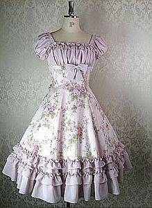 Not exactly ideal for fancy uptown dinners, but zomg would this make a sweet swing dancing dress! The gay husbands would absolutely bawl if I showed up in sumthin this girlie without them raiding my closet & dressing me by force beforehand.