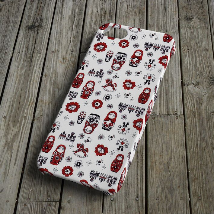 Matryoshka doll - iPhone 5 Case - iPhone 5 Cover - Plastic iPhone 5 Case by VectorDecor on Etsy https://www.etsy.com/listing/165386482/matryoshka-doll-iphone-5-case-iphone-5