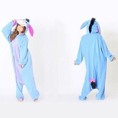 Hot Unisex Adult Pajamas Kigurumi Cosplay Costume Animal Onesie Sleepwear | eBay