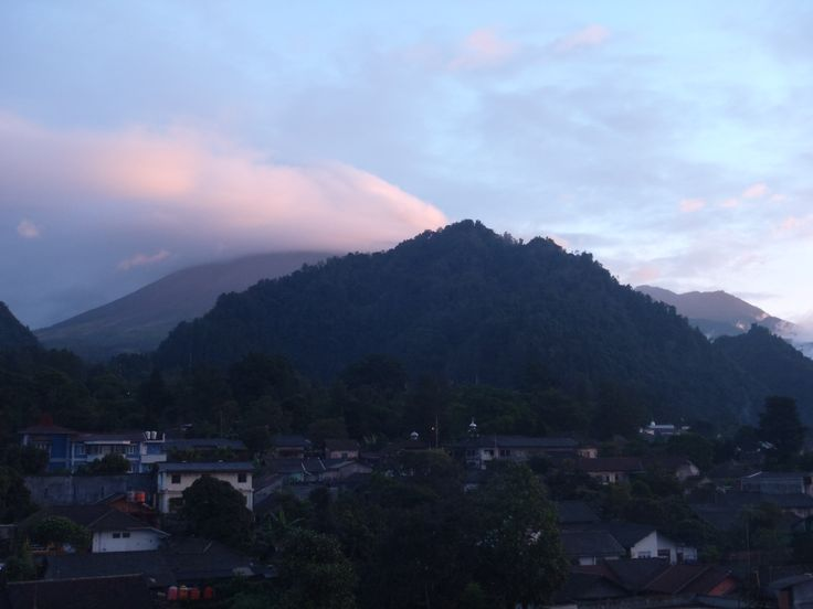 Merapi Montain in the morning from Kaliurang