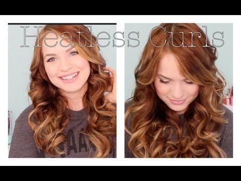 Heatless curl method