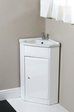 Images Photos Corner Vanity Unit with Tap and Waste Contemporary Bathroom