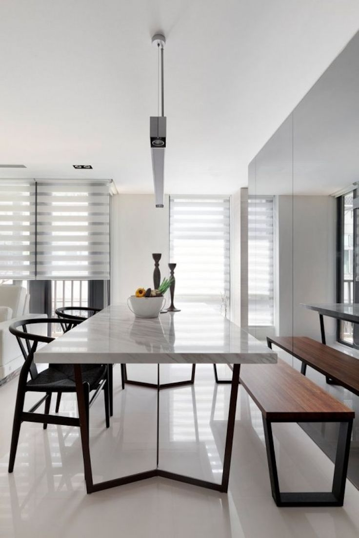 25 best ideas about minimalist dining room on pinterest for Dining room ideas on pinterest
