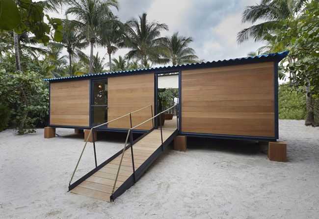 Charlotte Perriands Beach Holiday House built by Louis Vuitton. 80 years on, a stunning holiday house designed by Charlotte Perriand in 1934, 'La Maison au Bord de l'Eau' (house by the water)