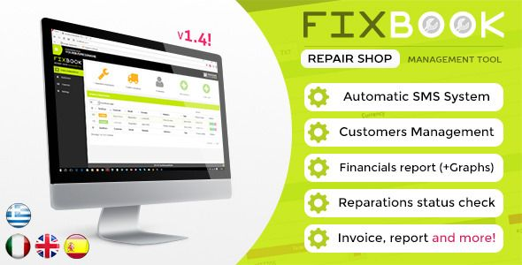 Download Free FixBook - Repair Shop Management Tool # codeigniter - shop invoice