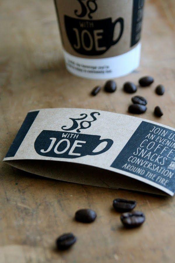 coffee sleeve design invitation