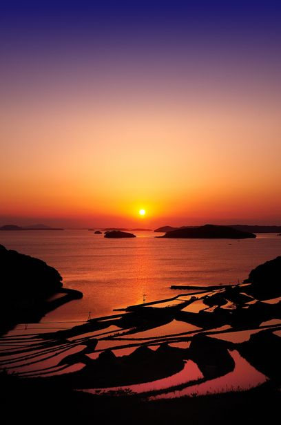 Sunset, Matsuura, Nagasaki, Japan 長崎県松浦市福島町土谷