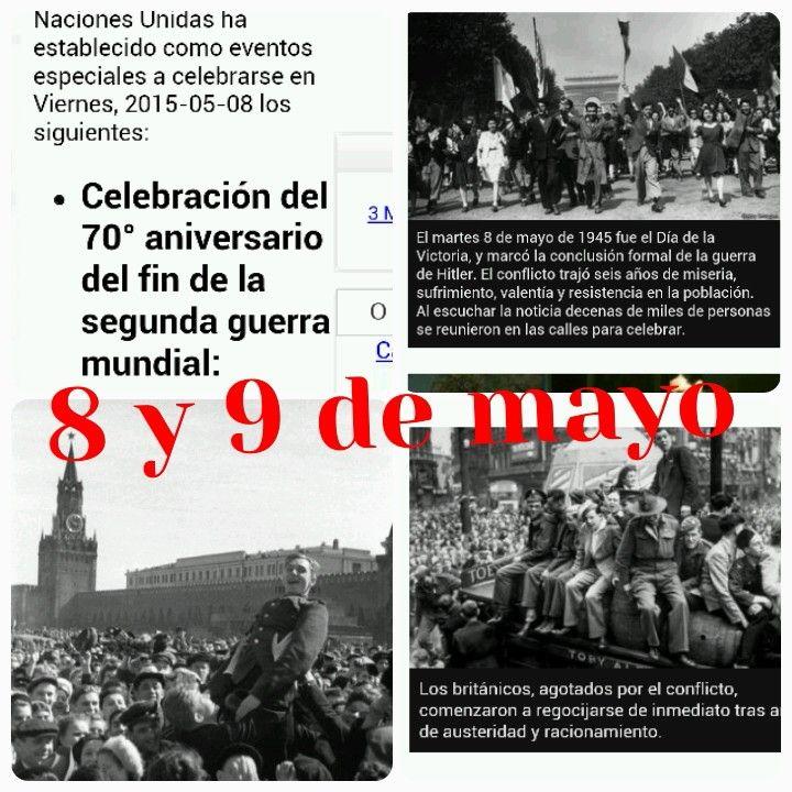 Hoy es el DÍA de la VICTORIA!!! 70 ANIVERSARIO!!! GRACIAS A LOS VETERANOS DE LA 2a GUERRA MUNDIAL POR DARNOS LA VIDA A CAMBIO DE LA SUYA!!! NO al FASCISMO!!! SI A LA VIDA HUMANA!!!