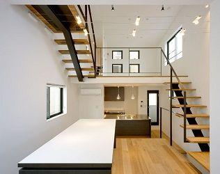 フリーダムアーキテクツデザインの狭小住宅スキップフロア例