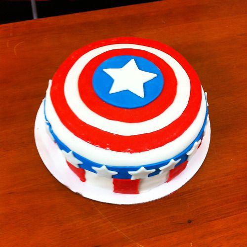 Nerdy Nummies Captain America Cake