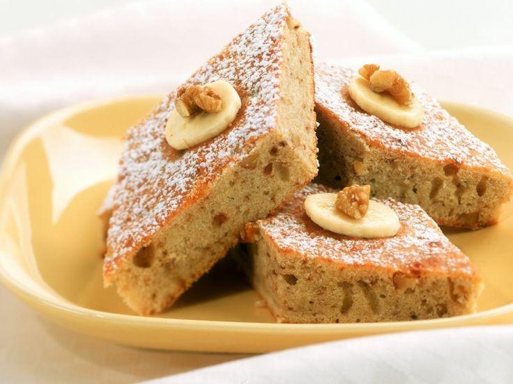 Ein ideales Rezept für Bananenfans, diese Kombi ist unglaublich lecker: Bananen-Nuss-Kuchen