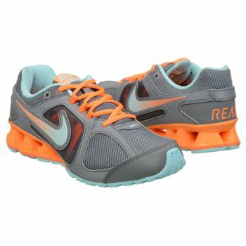 Athletics Nike Women's REAX 8 Grey / Mint/ Orange FamousFootwear.com