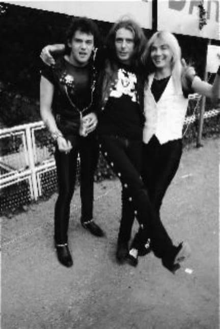 """Paul and Dave with Motorhead's """"FAST"""" Eddie Clarke"""