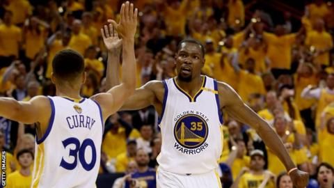 NBA Finals: Golden State Warriors beat Cleveland Cavaliers in game two - BBC Sport
