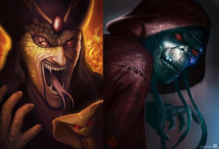 Kreslené postavičky horory