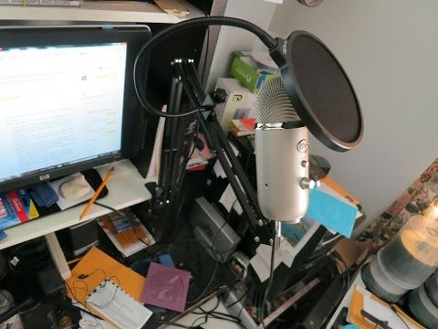 (33) $13 Neewer microphone stand is great & works with Blue Yeti mic - YouTube