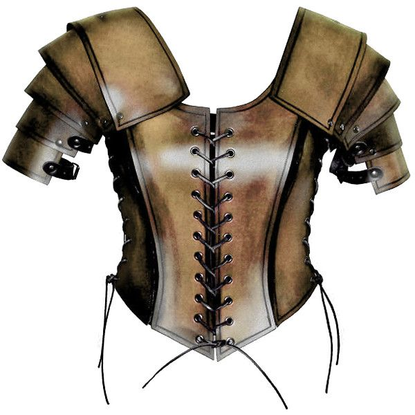 Female Medieval Warrior Armor liked on Polyvore | My Style | Pinterest | Medieval Armors and Tops