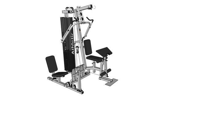 multi estação de musculação Athletic - 3D Warehouse