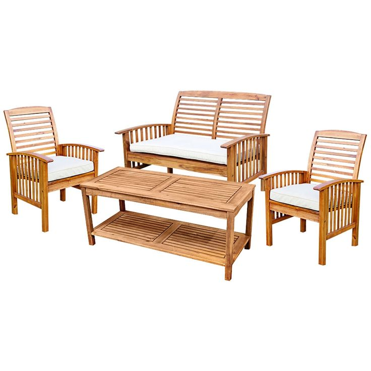 Kevin Brown 4-Piece Patio Conversation Set with Cushions - Style # 1W145