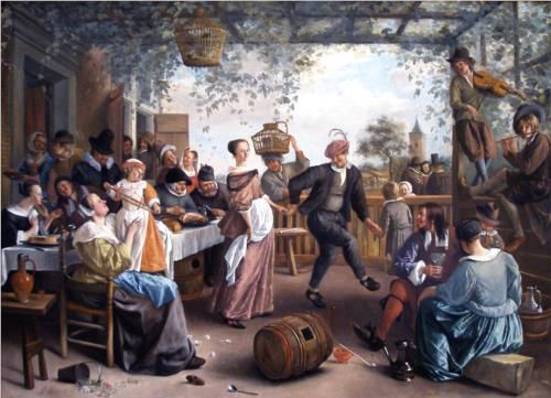 Jan Havickszoon Steen (Leiden 1626 – Leiden 1679)  The Dancing Couple