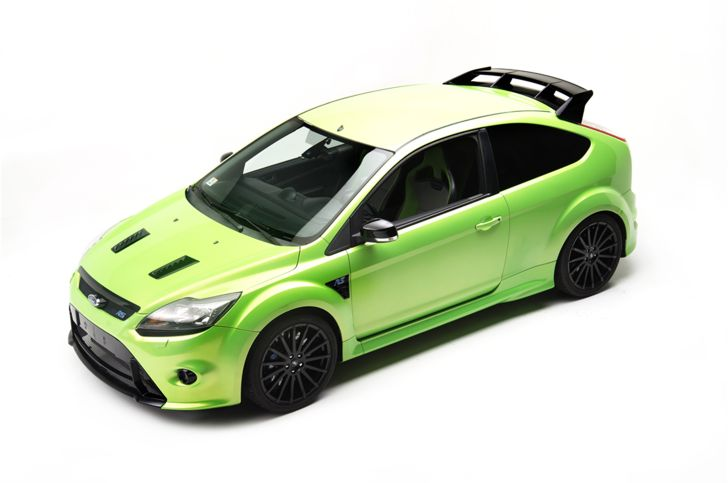 2010 Ford Focus RS  We weren't privy to any of Ford's RS products before the Stateside launch of the current Focus RS, so this acid-green RS coupe will likely be one of the rarest track-toys around. That's right you won't be able to drive this on the street, barring enactment of the Show and Display law.  It's a shame, really. This is considered one of the finest front-wheel-drive cars ever made, and it arrives with a bucket of go-fast parts to boot. According to the listing, the…