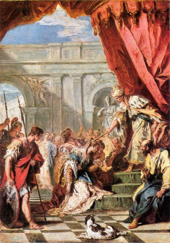 Εσθήρ προ του βασιλιά Ασσουήρου (1730-34)  Εθνική Πινακοθήκη στο Λονδίνο