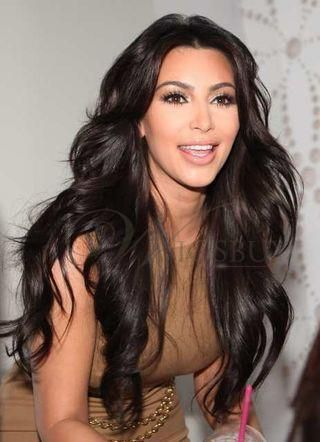 Kim Kardashian Super Long  Natural Curly 150% Density Lace Front Wig Heat Resistant Hair about 24 Inches