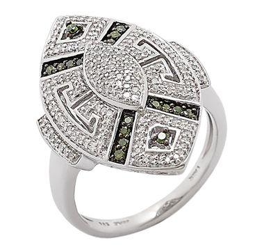 Tracey Bregman Diamond Sterling Silver Vintage Design Ring