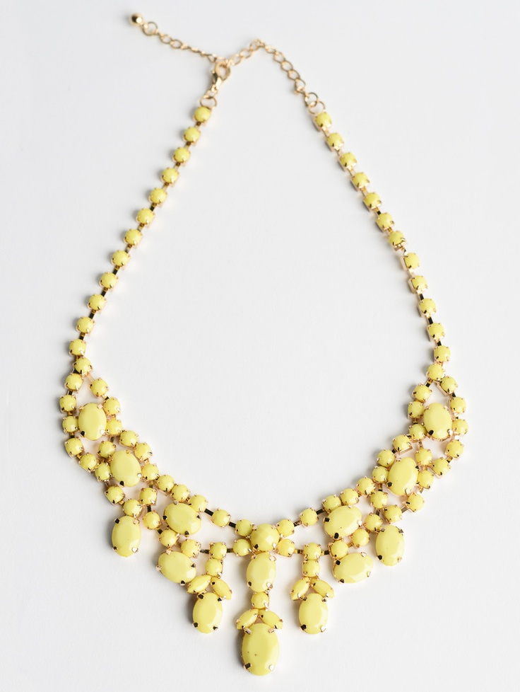 Chandelier Necklace in Yellow