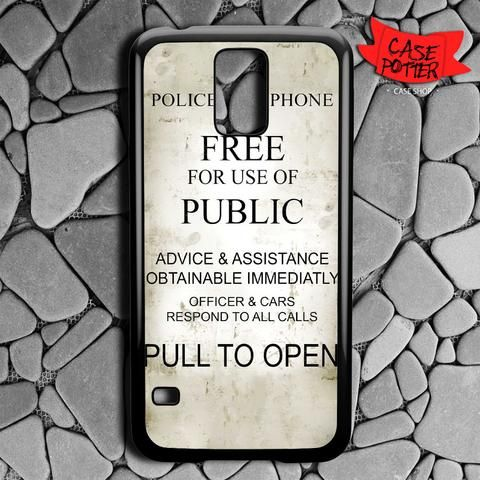 Quotes Box Tardis Doctor Who Samsung Galaxy S5 Black Case