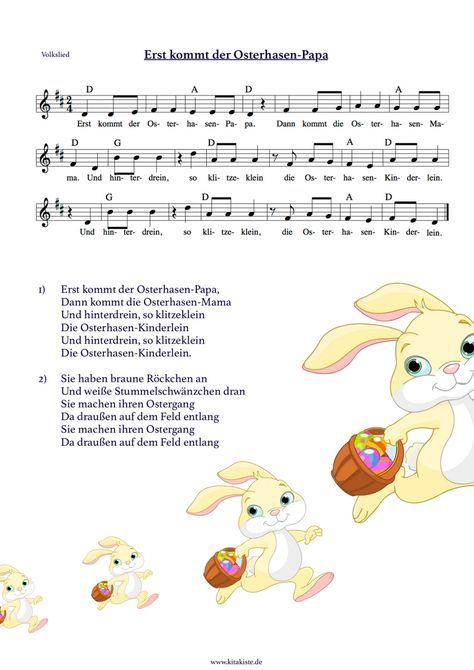 """""""Erst kommt der Osterhasen-Papa"""" - nach der bekannten Sonnenkäfemelodie - Download auf: www.kitakiste.jimdo.com"""