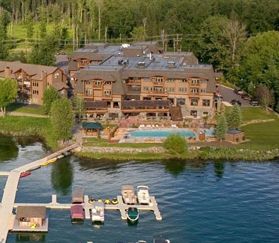 The Lodge on Whitefish Lake in Whitefish, Montana--beautiful accommodations right on the lake.