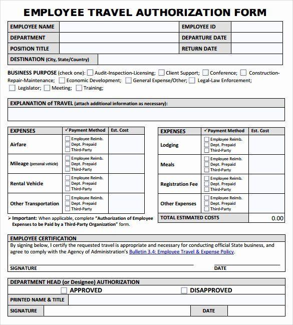 Repair Authorization Form Template Luxury 9 Sample Travel Authorization Form Examples To Download Travel Consent Form Child Travel Consent Form Form Example