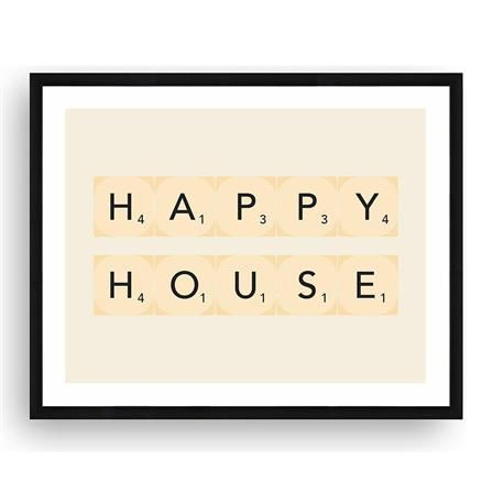 Happy House Framed Picture