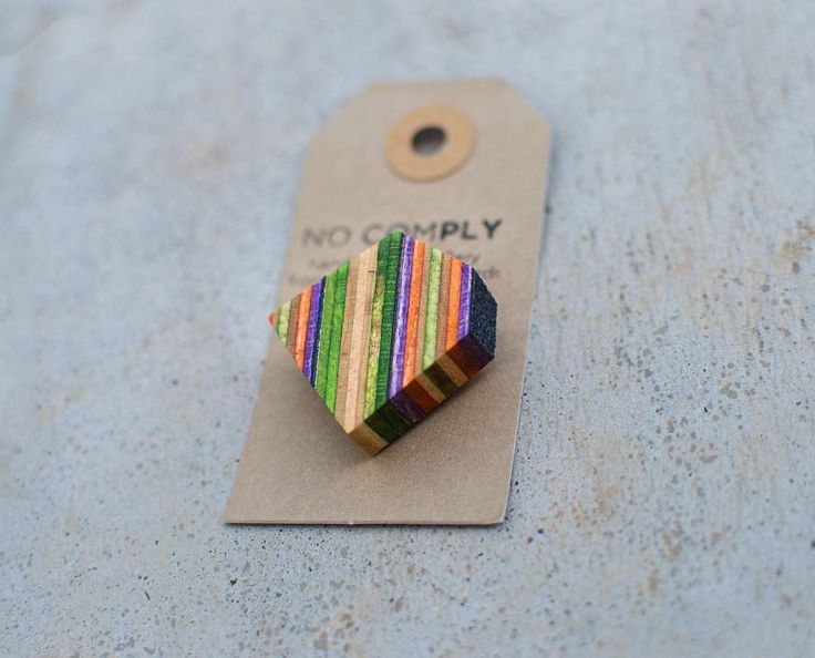 Happy Friday 🙌🏻 here's one of our new brooches made from three pressed skateboards. Online shop coming soon ✨