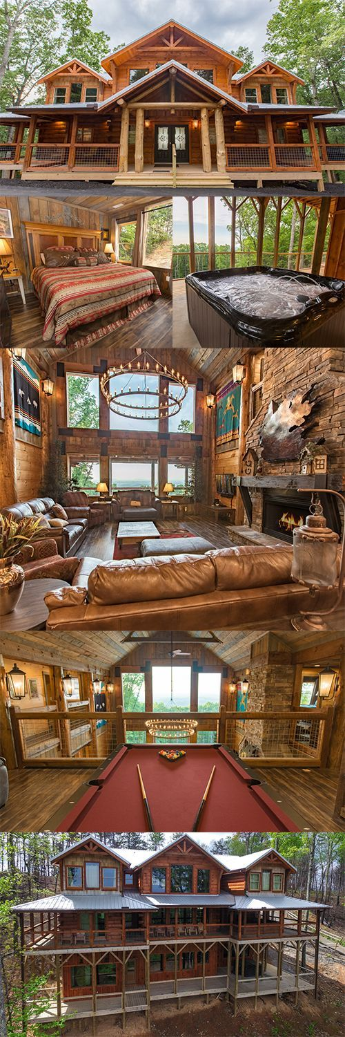 Luxury pours from every corner at Mountain Cascades Lodge, and we're head over heels. | Featured Cabin: Mountain Cascades Lodge #greatsmokymountains #cabinsforYOU #Gatlinburg #PigeonForge #tennessee #luxury #lodge #Reunion