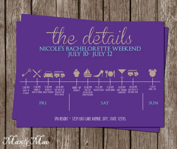 Hey, I found this really awesome Etsy listing at https://www.etsy.com/listing/240052949/bachelorette-itinerary-timeline-details