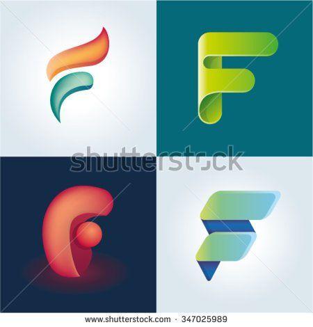 Logo idea of letter F set