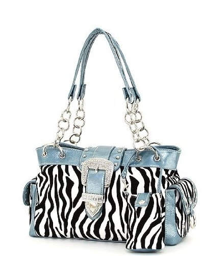 $39.99-$49.99 Handbags  Zebra Print Rhinestone Buckle Satchel Handbag - Have fun wearing this beautiful Zebra Print Rhinestone Buckle Satchel Handbag!  It has two open and one zipper pocket inside, a rear zipper pocket, two side magnetic snap pockets, and an included cell phone case!  The central zipper compartment keeps your things organized! http://www.amazon.com/dp/B005KBIWLS/?tag=pin0ce-20