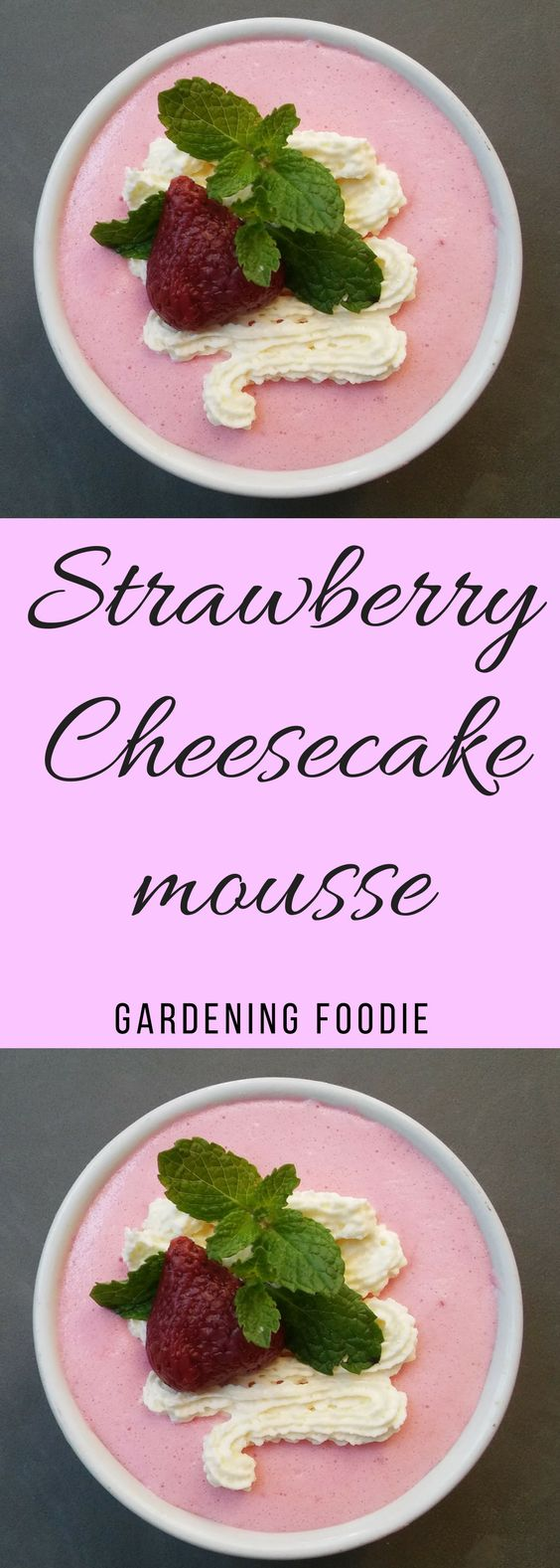 I love to bake, but there are times when you just want a no bake dessert. and Strawberry cheesecake mousse is perfect for those times