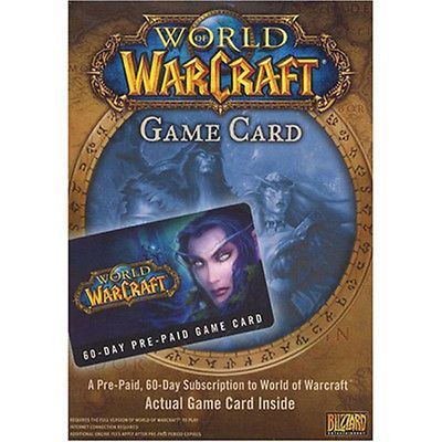 World of Warcraft 60-day Pre-Paid Game Card [Blizzard]