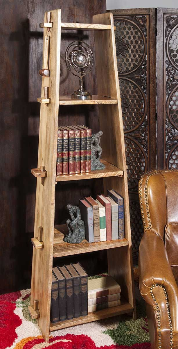Lean and clean: A wood shelf takes tusk-and-groove construction to another level.