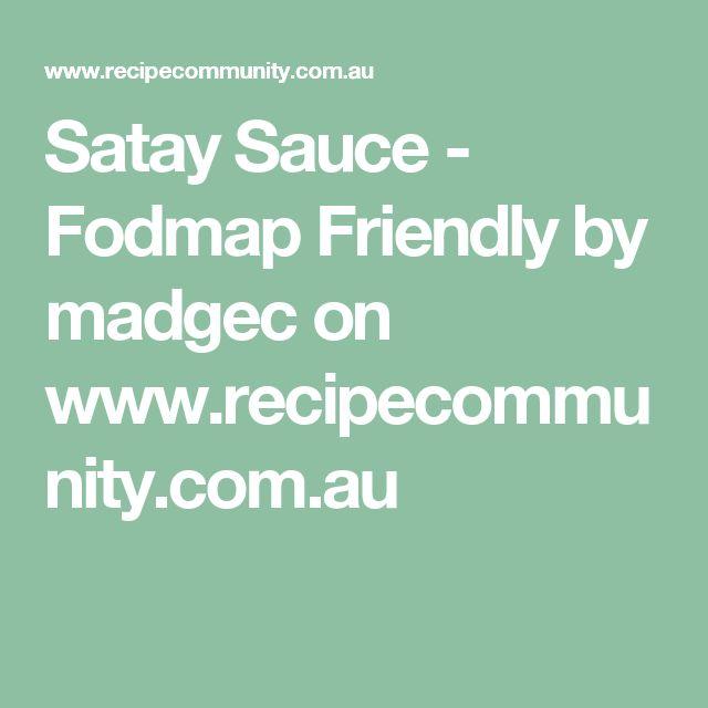 Satay Sauce - Fodmap Friendly by madgec on www.recipecommunity.com.au