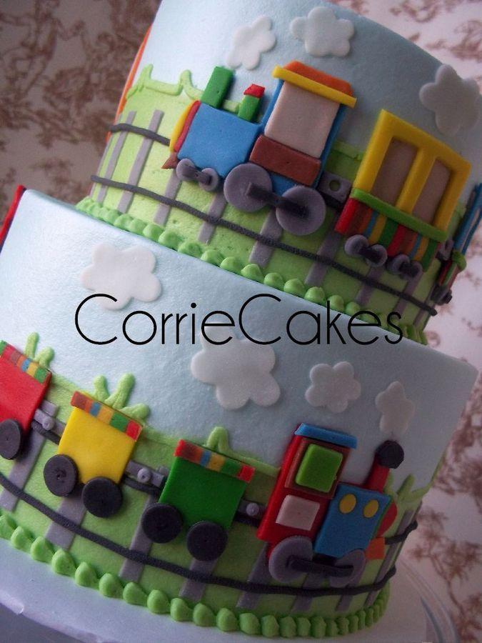 Corriecakes amazing-train birthday cake