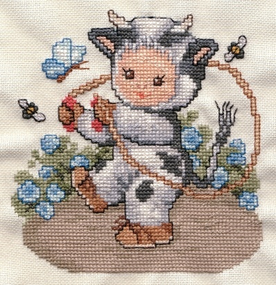 EMS cow baby - Counted Cross Stitch
