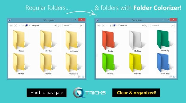 How to Change Folder's Color in Windows | Folder Colorizer 2015 - http://www.qdtricks.com/change-folders-color-in-windows/