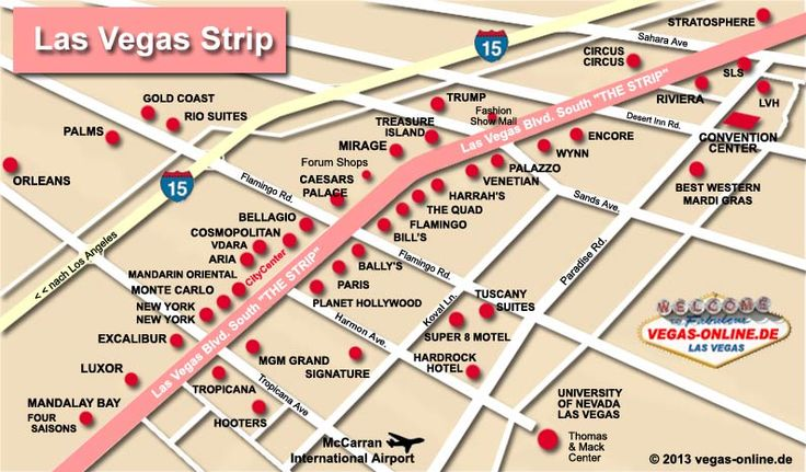 Las Vegas Strip Map With Hotels Swimnovacom - Las vegas map of hotels