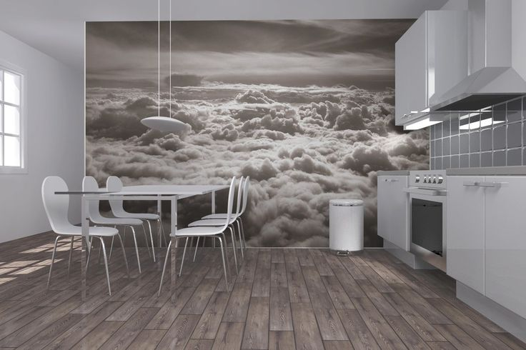 Above Clouds - Sepia - Wall Mural & Photo Wallpaper - Photowall
